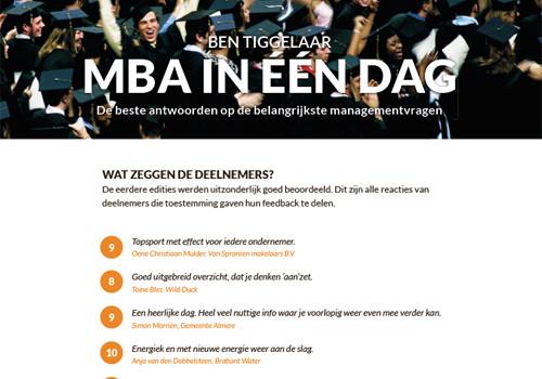 Testimonials MBA in een dag