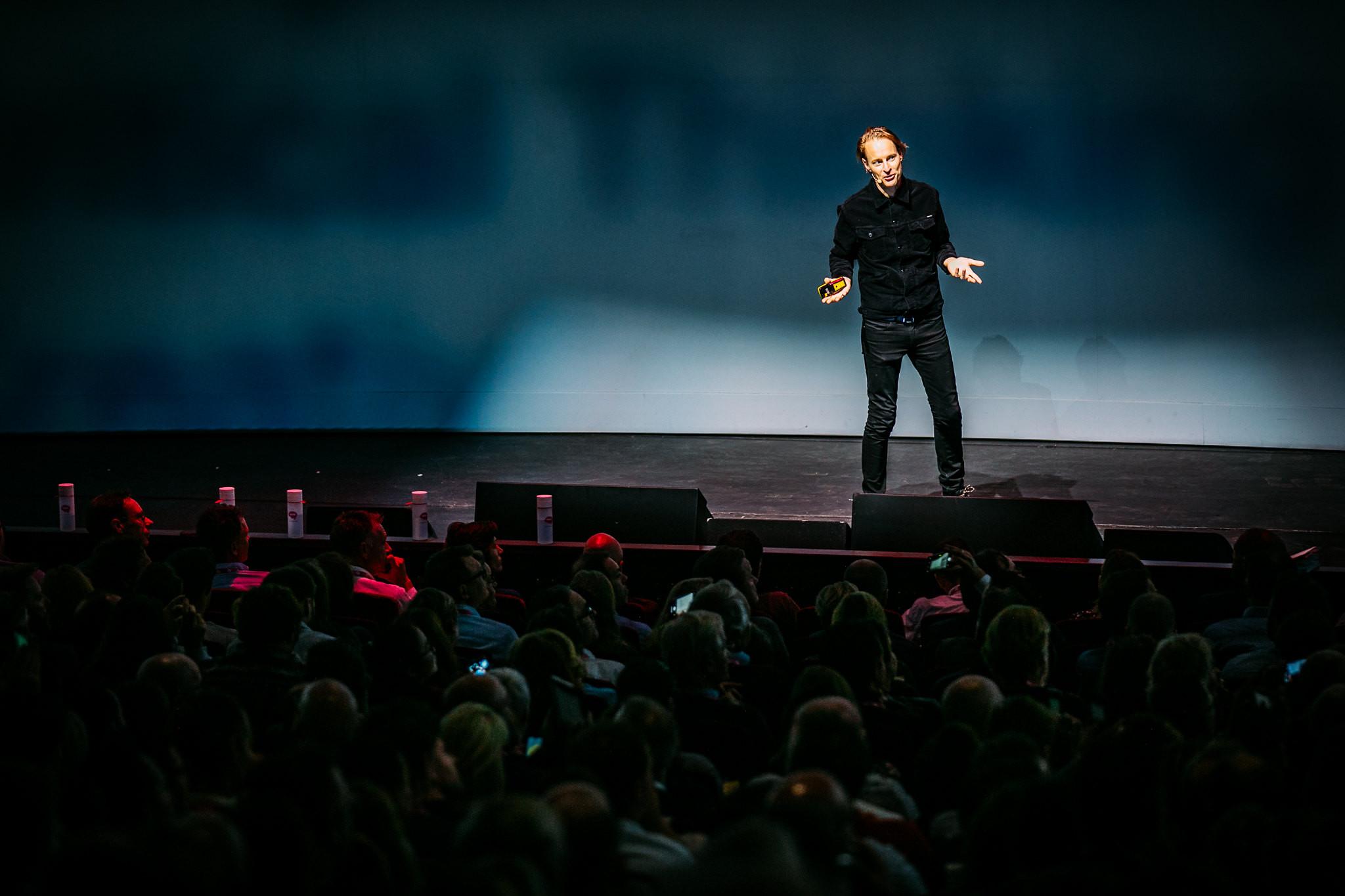 Daan Roosegaarde tijdens Purpose Driven Leadership